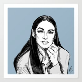 Alexandra Ocasio-Cortez: D, NY Art Print