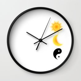"""""""The Sun The Moon The Truth"""" tee design made perfectly for galactic and star lovers! Balance it now! Wall Clock"""