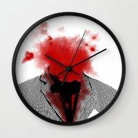 danny haas Wall Clocks featuring Danny by NicholasB