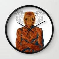 demon Wall Clocks featuring Demon by Rofi