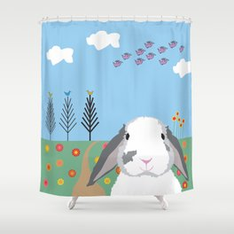 Jokke, The Rabbit Shower Curtain