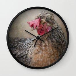 Dorking Chicken Wall Clock