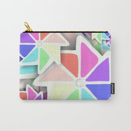 3D Pinwheels Carry-All Pouch