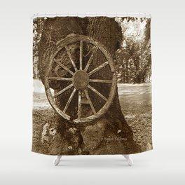 Historical Wagon Wheel Shower Curtain