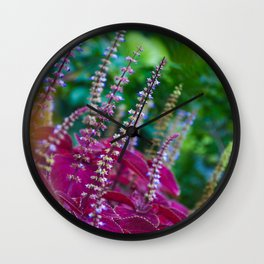 Delicate Blooms Wall Clock