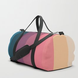 Classic Polychrome Retro Stripes Duffle Bag