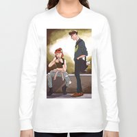 scully Long Sleeve T-shirts featuring Hey Scully... by Jena Young