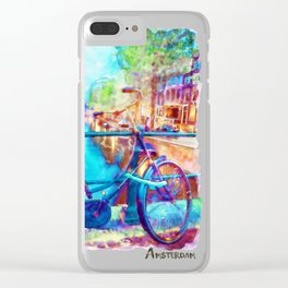 Amsterdam Bicycle Clear iPhone Case