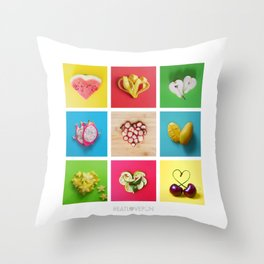 For the Love of Fruit Throw Pillow