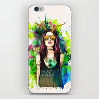 capricorn iPhone & iPod Skins featuring Capricorn by Sara Eshak