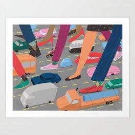 Crosstown Traffic Art Print