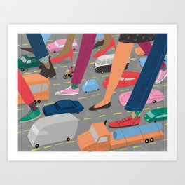 Crosstown Traffic Art Print