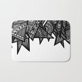 Triangle Henna Print- B+W Bath Mat