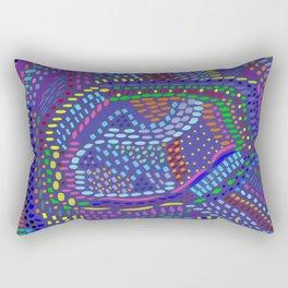 Purple Abstract, original artwork Rectangular Pillow