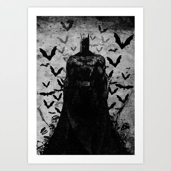 The night rises B&W Art Print
