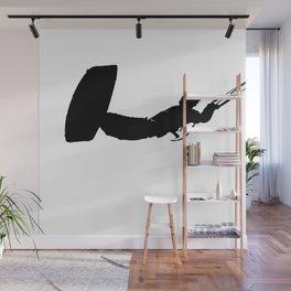 Getting High Kiteboarder Silhouette Wall Mural