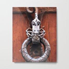 The Dragon Knocks Metal Print