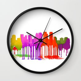Tampa, Florida Skyline - Puddles Wall Clock