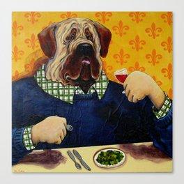 Massive Mastiff Munching Canvas Print