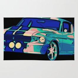 Shelby Mustang Pop Art Rug