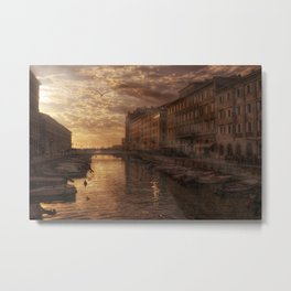 The Canal in Trieste Metal Print
