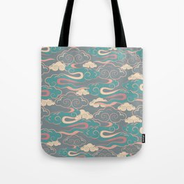 Colourful purple, pink, aqua clouds at twilight Tote Bag
