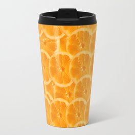 Orange Pattern Travel Mug