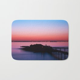Sunset pier Bath Mat