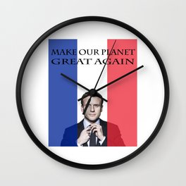 Macron Make Our Planet Great Again Wall Clock