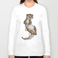 games Long Sleeve T-shirts featuring Otter Games by Animal Camp