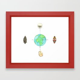 Anthropology: The Four Subdisciplines (Version 1.0) Framed Art Print