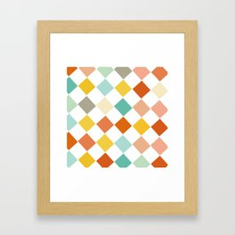 Color Check Framed Art Print