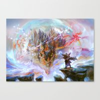 magic the gathering Canvas Prints featuring Demystify - Magic: The Gathering by vmeignaud