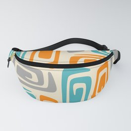 Mid Century Modern Cosmic Abstract 740 Orange Blue and Gray Fanny Pack