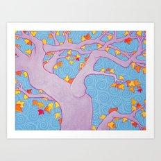 Autumn Spirals Art Print