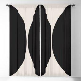 Curvature Minimalism - Black Blackout Curtain