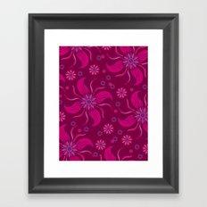 Floral Obscura Wine Framed Art Print