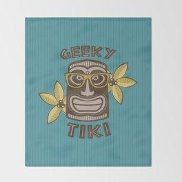 Geeky Tiki Throw Blanket