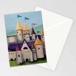 Kids Storybook Castle by the Water Stationery Cards