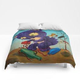 purple spirals downward Comforters