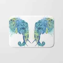 Elephant Head II Bath Mat