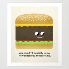 Cheesy Burger Art Print