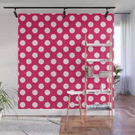 Infra Red Polka Dot Pattern Wall Mural