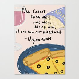 Woolf it down. Canvas Print