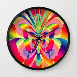 Butterflies Colorful Rainbow Spectrum Wall Clock