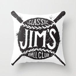 Classic Jim's Ball Club - Tshirt Throw Pillow