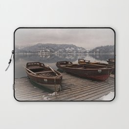 Rowing Boats At The Lake Bled Laptop Sleeve