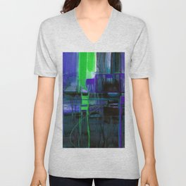 A Journey Into Abstract Thought No.1n by Kathy Morton Stanion Unisex V-Neck
