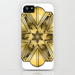 Art Deco Mandala iPhone Case