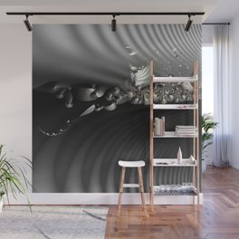 Storm of life renewal - Black and white with a hint of tint Wall Mural